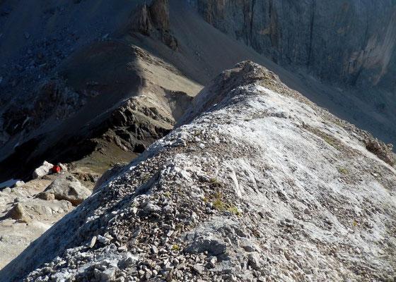 Auf dem Grat der Felsstufe
