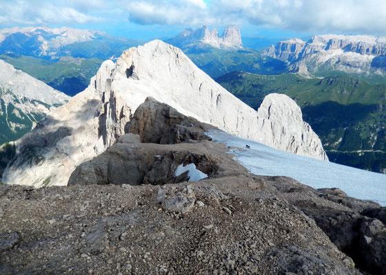 Abstieg - Westgrat vor Gran Vernel