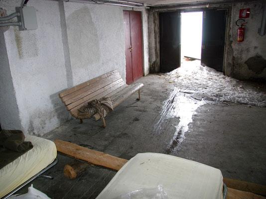 Notraum der Auronzohütte
