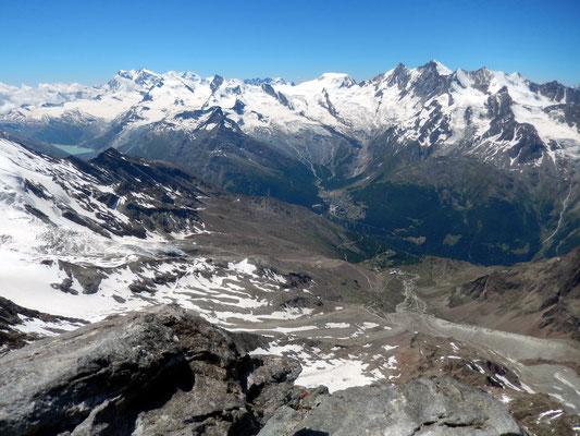 Gipfelblick - Monte Rosa, Allalingruppe, Mischabel
