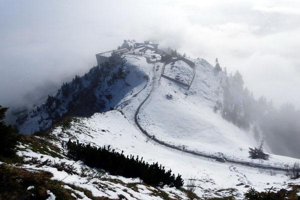 Gipfelblick auf die Bergstation
