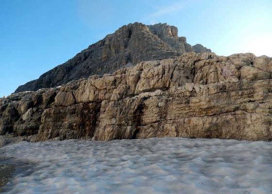 Gipfelaufbau der Cima Pisciadù