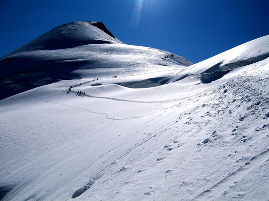 Feejoch vor Gipfel
