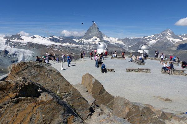 Blick von der Gornergrat-Bergstation zum Matterhorn