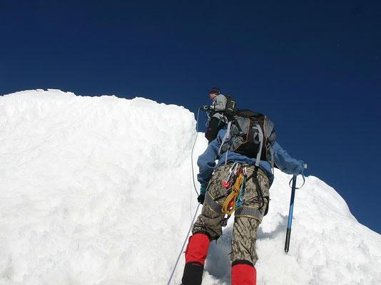 Ausstieg zum Gipfelplateau