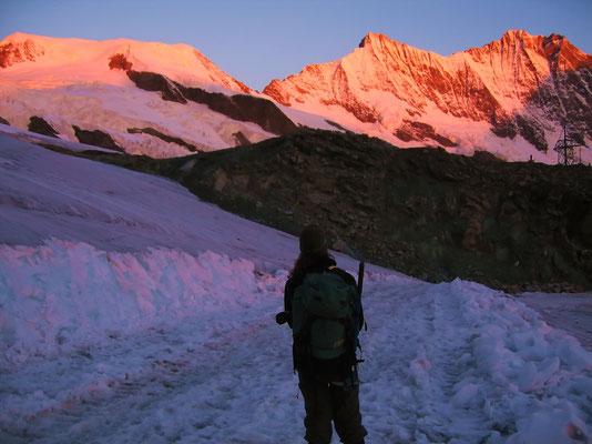 Morgendliches Alpenglühen
