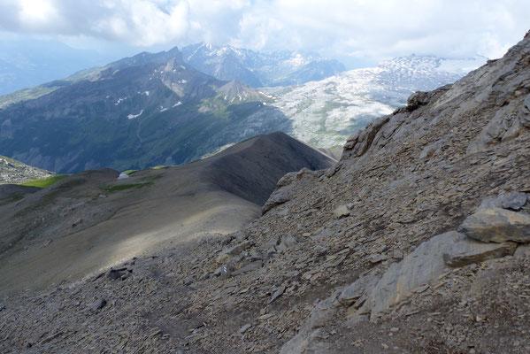 Abstieg auf dem Grat