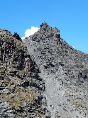 Blick vom Ostgrat auf den Pizolgipfel