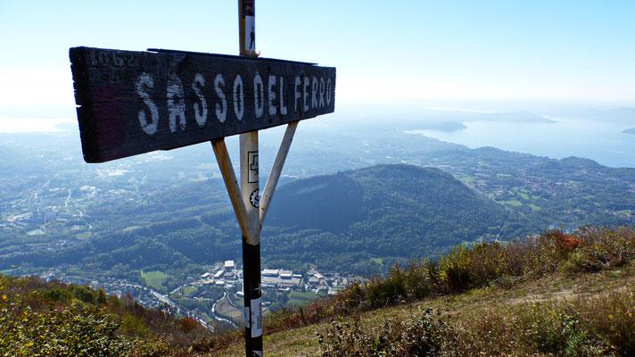 Am Gipfel des Sasso del Ferro - 1062 M