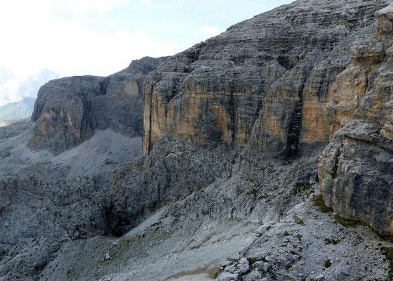Blick auf den Klettersteig 3