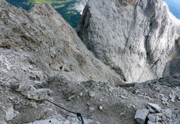 Blick in die Aufstiegsroute