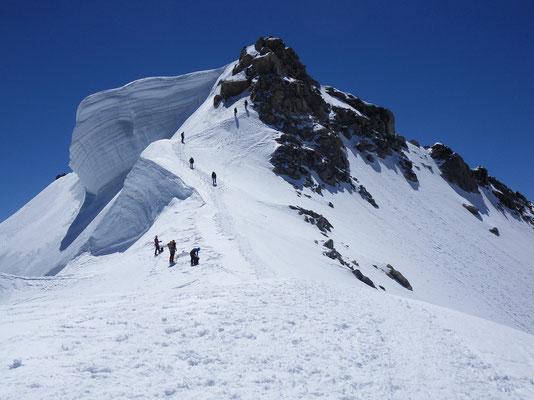 Gipfelaufbau - MB du Tacul