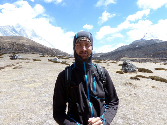 Chris - Abstieg nach Dingboche