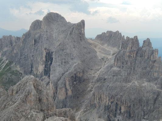 Gipfelblick zu den Vajolettürmen