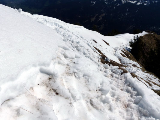 Abstieg über den NO-Grat