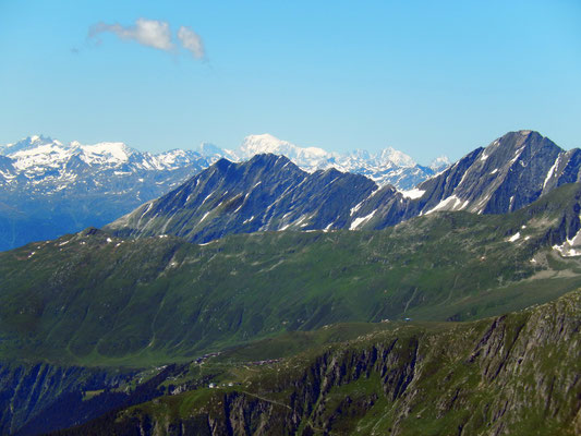 Gipfelblick nach West - Mont Blanc