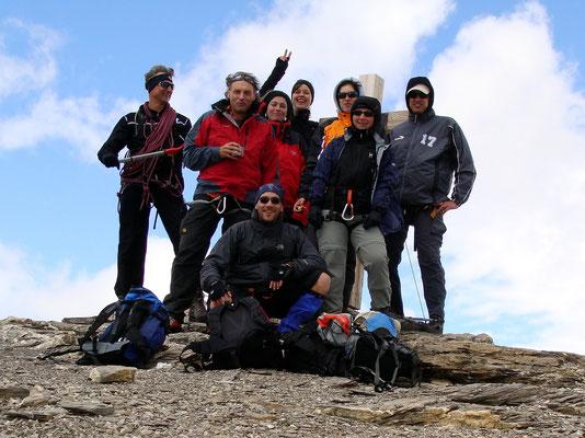 Gruppenbild - Steghorngipfel - 3146 M