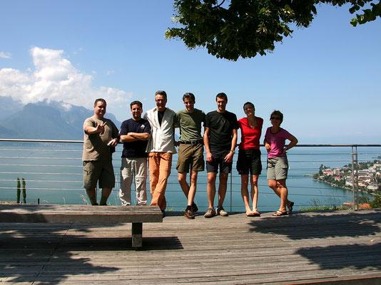 Gruppe vor Genfer See