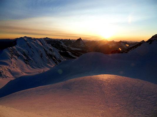 Sonnenuntergang überm Wallis