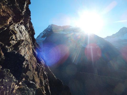 Sonnenaufgang über dem Lagginhorn