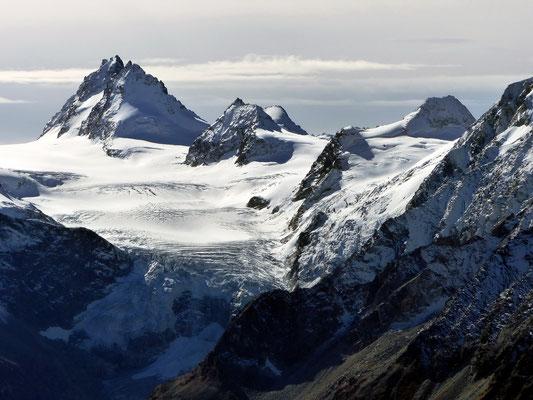 Gipfelblick - Glacier du Mont Miné