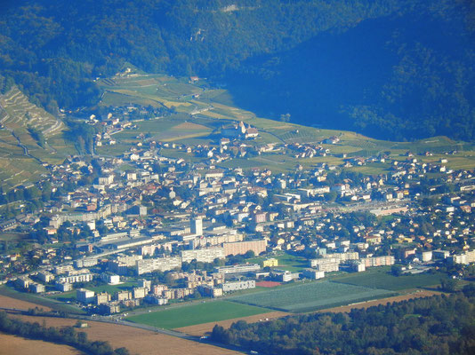 Gipfelblick - Vouvry im Rhonetal