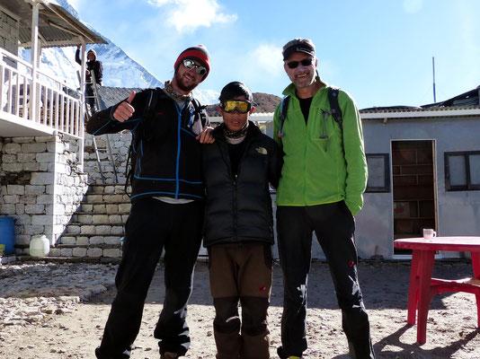 Gipfelteam - Chris & Bikram & Hans