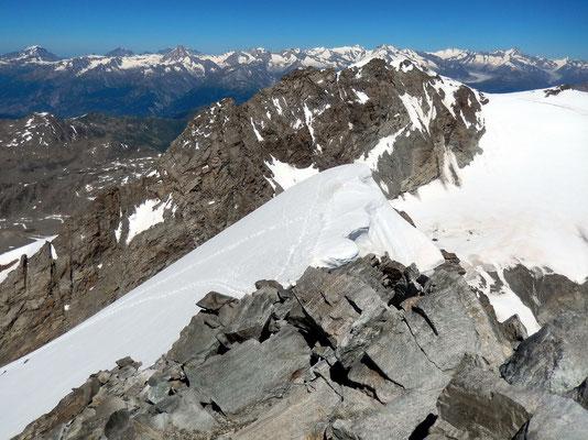 Gipfelblick - Fletschhorn, 3993 M