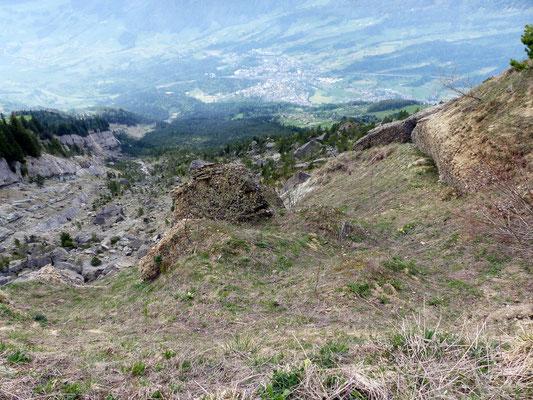 Bergsturzzone - Hinab nach Goldau