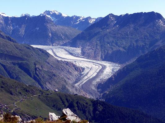 Gipfelblick - Aletschgletscher