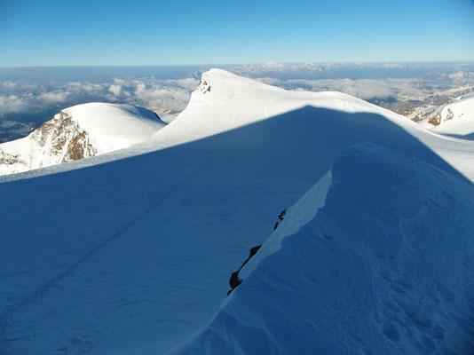 Parrotspitze - Gipfelgrat-Ausstieg