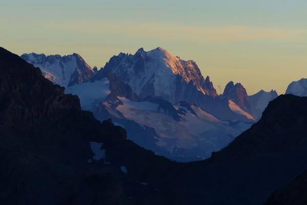 Sonnenuntergang an der Aiguille Verte - 4122 M
