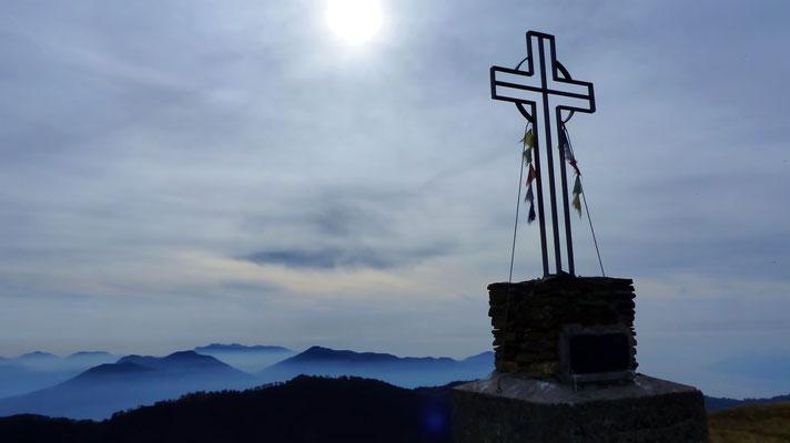 Am Gipfel des Monte Spalavera