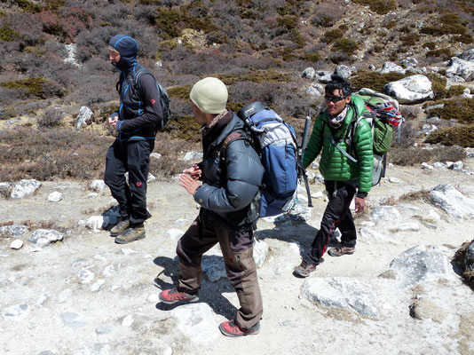 Abstieg nach Dingboche