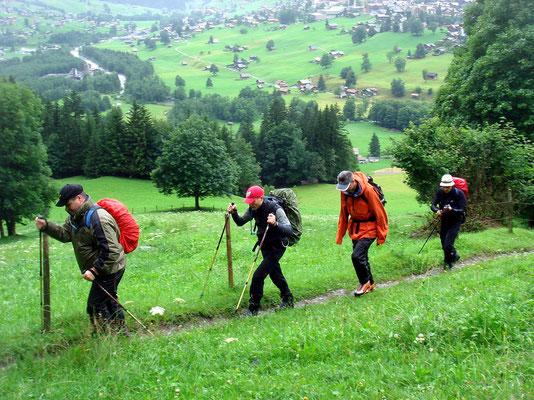 Aufstieg über Grindelwald