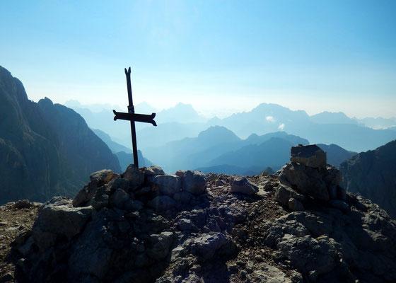 Am Gipfel der Cima Ombretta - 3011 M