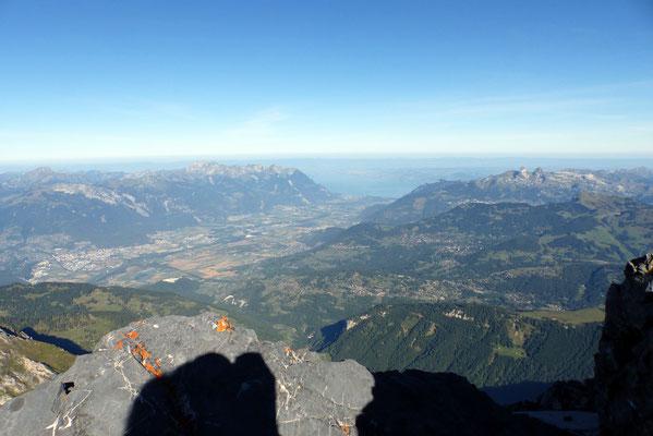 Gipfelblick - Rhonetal vor dem Genfersee