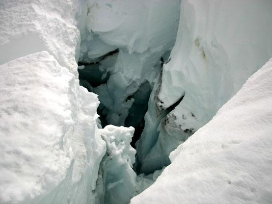 Mèr de Glace - Sehr tiefe Gletscherspalten