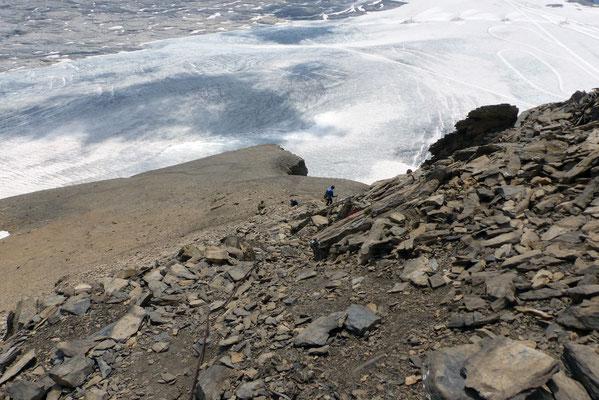 Abstieg - Glacier de Tsanfleuron