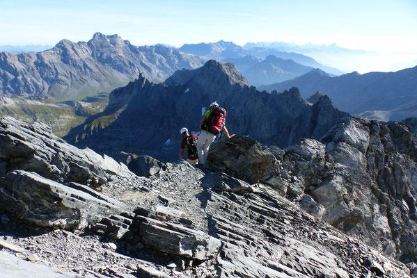 Gipfelblick - Muveran-Gruppe