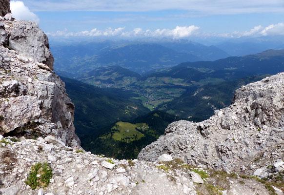 Tiefblick ins Val Badia