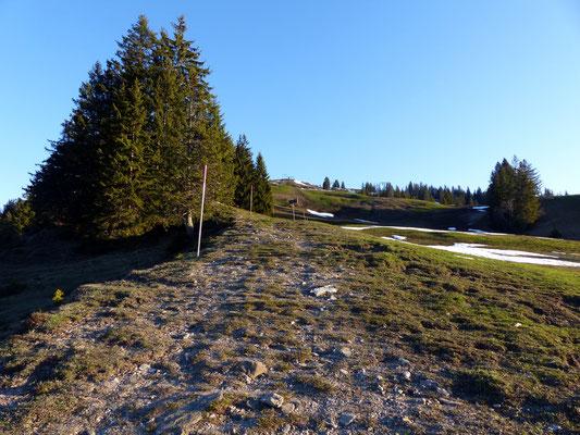 Aufstieg an der Brünnelistock-Westseite