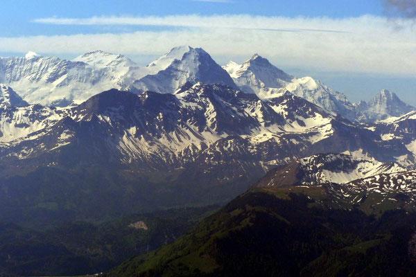 Gipfelblick - Eiger-Mönch-Jungfrau