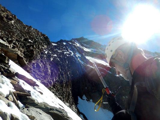 Lagginhorn-Westgrat - Direttissima zum Gipfel