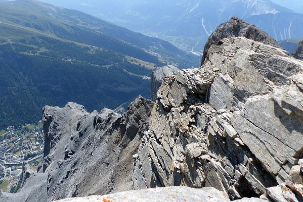 Gipfelblick: Daubenhorn-Klettersteig