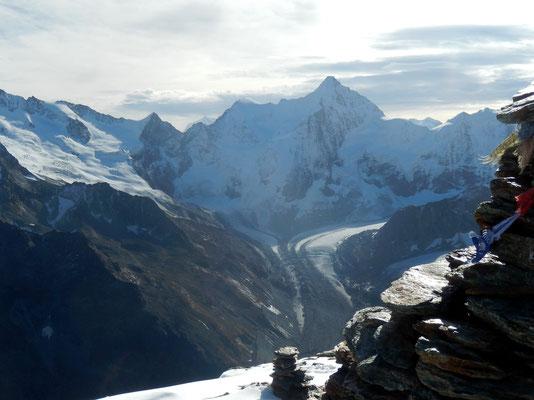 Gipfelblick - Wellenkuppe - Obergabelhorn 4063 M