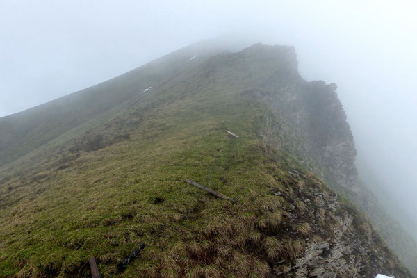 Der steile Südgrat