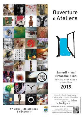 Carole Bécam, artiste peintre participe à l'Ouverture d'Ateliers du Pouliguen