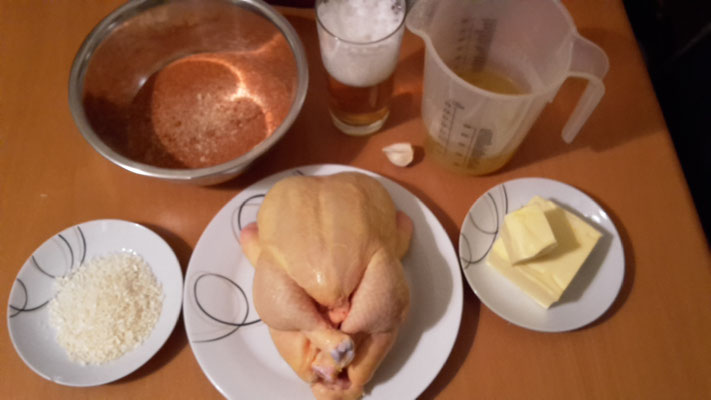 Butter-Onion-injected Chicken.