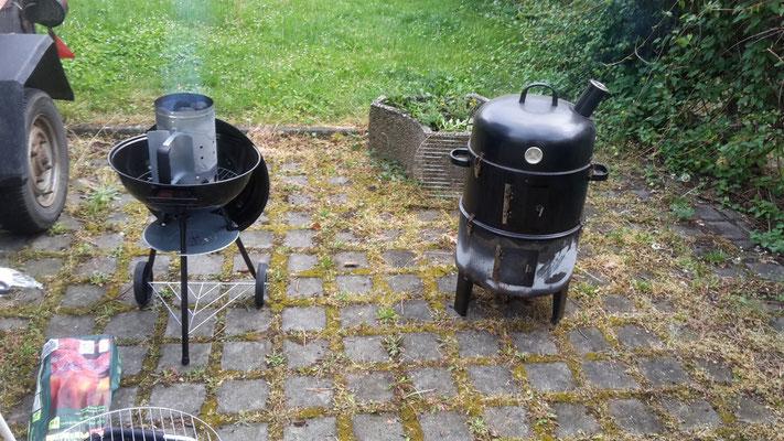 Einfache Grill und Räuchergeräte bringen ebenfalls gute Ergebnisse!